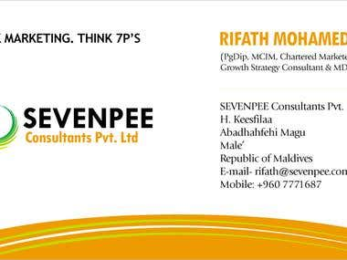 SEVENPEE Consultants Pvt. Ltd. - Business Card Design