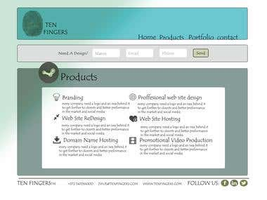 TEN FINGERS TM web site design