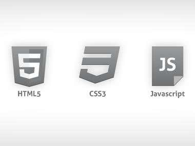 HTML, CSS, JavaScript