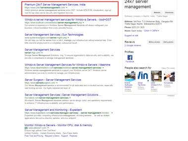 server management service keyword ranking