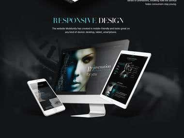 Custom responsive webdesign