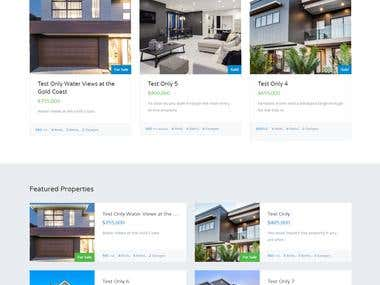 Real estate WP site