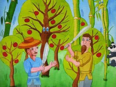 Pangpang's Apple Tree, children's book