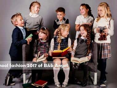 Kids clothes presentation