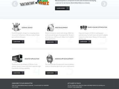 A PSD to HTML conversion