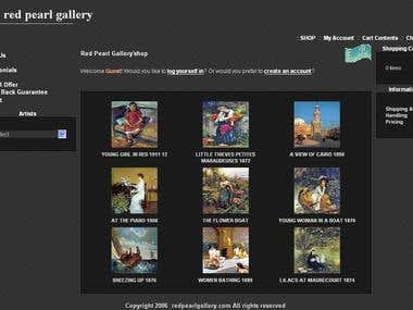 Red Pearl Gallery Website