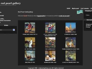 Red Pearl Gallery Website
