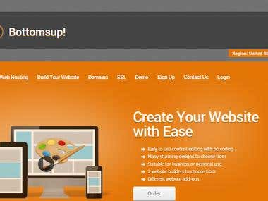 Web Hosting Company Website Setup