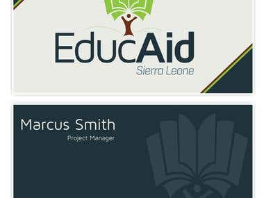 EducAid Business Card Design