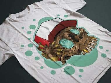 T-shirt ptint SKULL