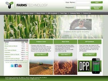 Farmstech.com website functionality
