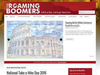 Roaming Boomers Website - WordPress