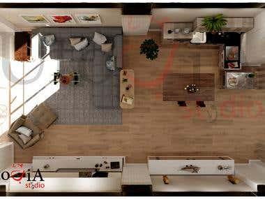 3D Plan living room