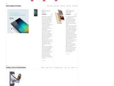 Harsh Mobile Shop -  Ecommerce Website