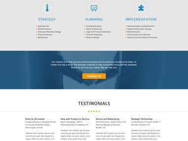 Site for business consulting company