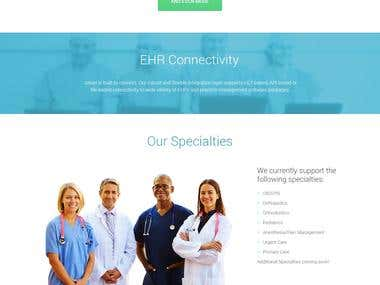Site development for medical software company