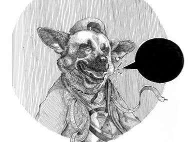 Chusta. Dog portrait.