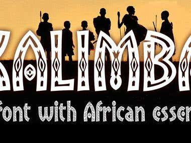 Kalimba font family