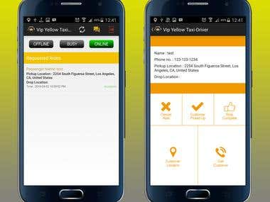 Android Taxi App and Web-based Dispatcher