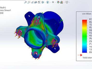 FEA Analysis Using Solid works