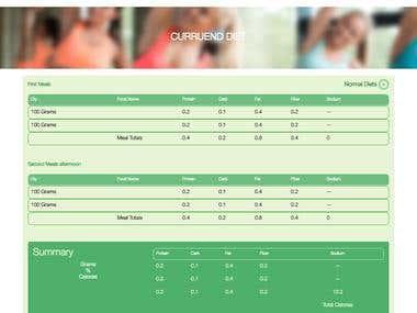 Sport Center Web Page