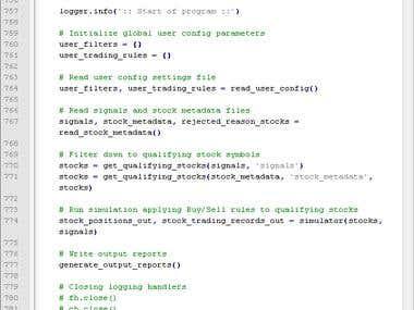 Python: Stock Market Screener and Simulator Tool