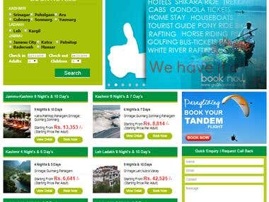 Kashmir Hotel Booking Site