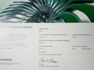AutoCad Certificate