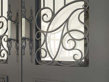 wrought iron design (outdoor)