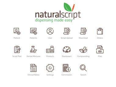 Icons for Natural Script