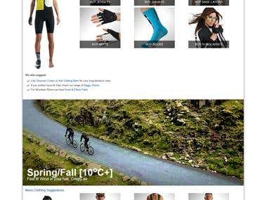 Content page for Cycle SuperStore