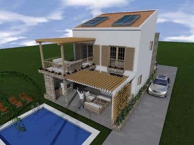 3D modeling_Vacancy home _ Orebic, Croatia