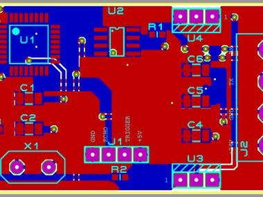 ATMEGA328p and Ultrasound Sensor based PCB