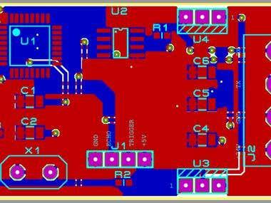 ATMEGA328p and Ultrasound Sensor based PCB