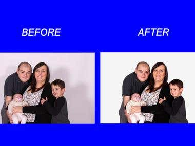 Before - After Family Portrait