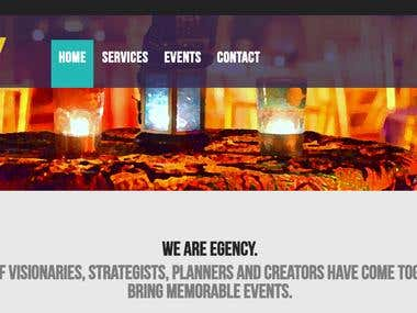Egency (Event Organizer Site)