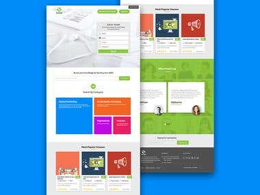 Web Design for Online Learning Website