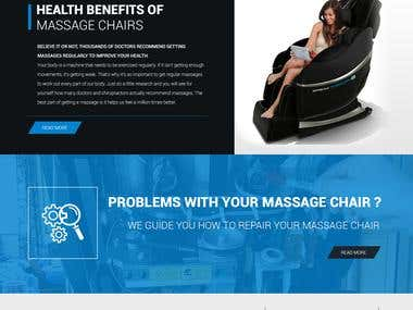 Massage Chairs Website- psd MOCKUP