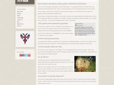 Sheds Direct Website