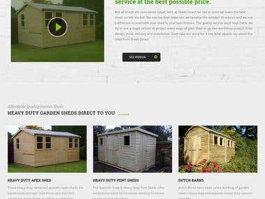Shed Direct Website developed using Wordpress