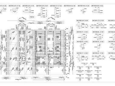Structural design_Steel reinforcement blueprint