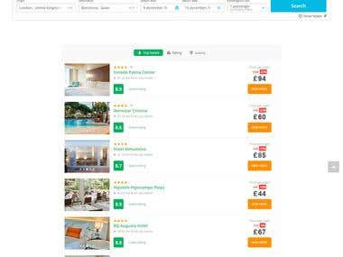 Hotel and Flight reservation website