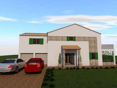 3D modeling_Family home _ Orebic, Croatia