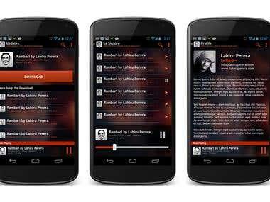 Mobile APP UI work