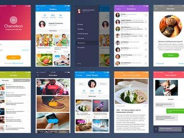 Mobile application «Сhameleon»