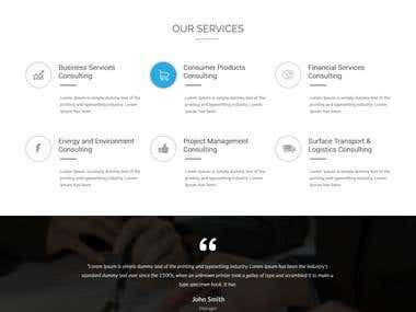 Consultency Website Design