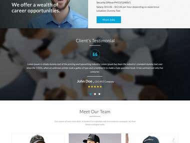 Security Guard Website template.