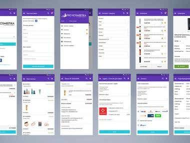 «PROKOSMEETIKA» mobile applications for internet shop
