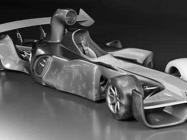 Concept Car free hand model