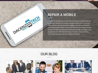 Ecommerce Mobile Repairing Website.